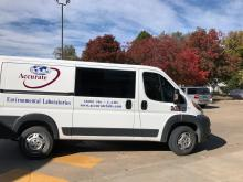 This Dodge ProMaster is the latest addition to the Accurate Field Services fleet