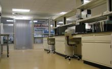 Clean room for low-level mercury testing at Stillwater facility