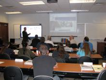 Accurate Training Center main classroom at Stillwater facility